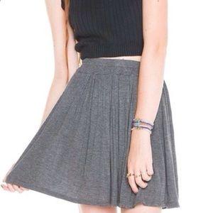Brandy Melville Grey Jersey Skater Skirt